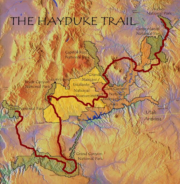 The Hayduke Trail: Maps